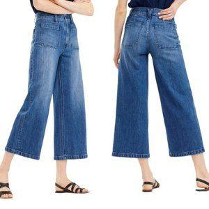 J CREW Point Sur Wide Leg Cropped Denim Jeans 31